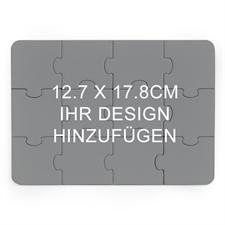 Puzzle als Einladung Holz Querformat 127 x 178 mm 12 Teile