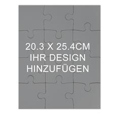 Puzzle als Einladung Holz Hochformat 254 x 203 mm 12 oder 100 Teile