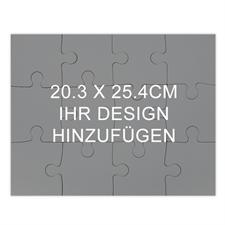Puzzle als Einladung Holz Querformat 254 x 203 mm 12 oder 100 Teile