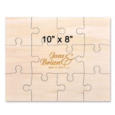 Holzpuzzle Baby Gravur Personalisieren Querformat 254 x 203 mm 11 Teile