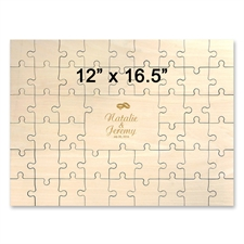 Holzpuzzle Gravur Abschluss Querformat 49 Teile 305 x 419 mm