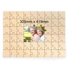 Holzpuzzle Das Puzzle aus Holz Personalisieren Erinnerung 305x419 mm 49 Teile