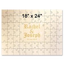 Gewerbe Holzpuzzle mit Gravur Querformat 457 x 610 mm 59 Teile