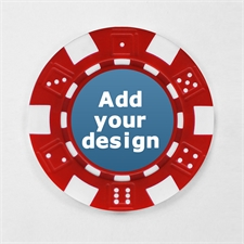 Rot Pokerchips personalisieren Streifen und Würfel mit Foto 12,5 Gramm