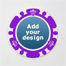 Pokerchips Krone personalisieren Kasinoqualität Purple