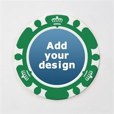 Pokerchips Krone personalisieren Kasinoqualität Grün