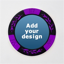 Pokerchips personalisieren Kasinoqualität Purple