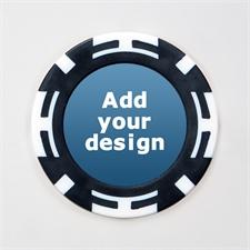 Schwarz Zweifarbig Kasino Pokerchips personalisieren Foto 11 Gramm