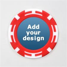 Rot Zweifarbig Kasino Pokerchips personalisieren Foto 11 Gramm