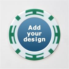 Grün Zweifarbig Kasino Pokerchips personalisieren Foto 11 Gramm