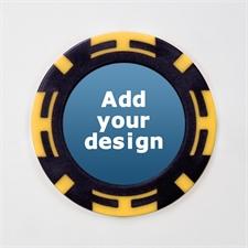 Gelb Zweifarbig Kasino Pokerchips personalisieren Foto 11 Gramm