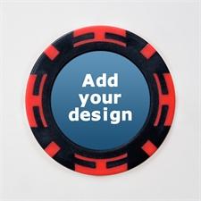 Rot Schwarz Zweifarbig Kasino Pokerchips personalisieren Foto 11 Gramm