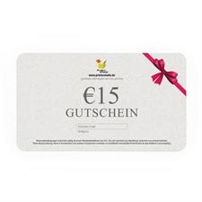 € 15,00 GUTSCHEIN