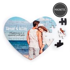 Magnet Herz Foto Puzzle Magnetherzfotopuzzle Gestalten ohne Rahmen 36 Teile