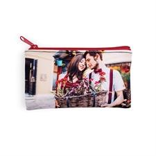 Kleine Personalisierte  Neopren Kosmetiktasche mit Foto 10,2 x 17,8 cm