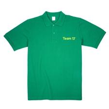 Poloshirt Bestickte Berufskleidung Personalisieren Polohemd Medium Grün