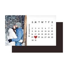 5,08 x 8,89 cm Kalender Memomagnet, Weiß