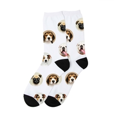 Collage Design  Unisex Socken selbst gestalten Größe M