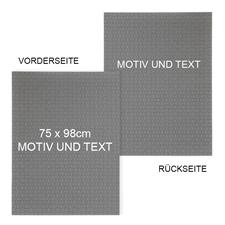 Doppelseitige Puzzle,2-seitig Hintergrundfarbe & Text 74,9 x 97,8 cm, 2000 Teile Fotopuzzle selbst online gestalten