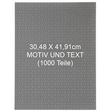 1000 Teile Personalisieren 30,5 x 41,9 cm Puzzle - Hochformat