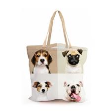 Gestalten Sie Ihre ViererCollage Tasche zu 100%, 40,6 x 40,6 cm