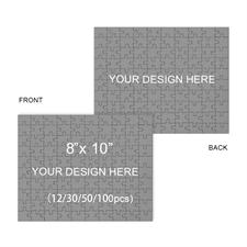 Zweiseitiges Fotopuzzle im Querformat 25,4 x 20,4 cm  personalisieren, 12 oder 30 oder 50 oder 100 Teile