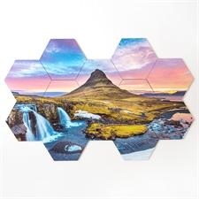 Gestalten Sie Ihren eigenen  sechseckigen Puzzlebierdeckel, 12-teilig