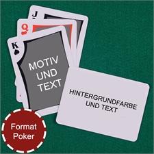 Modernes Personalisiertes Kartenspiel Querformat