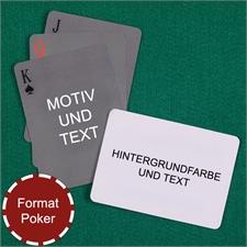 Einfache personalisierbare Spielkarten Rückseite Querformat