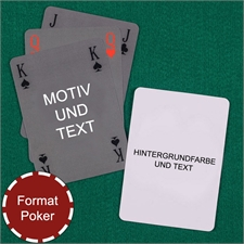 Simlpes Bridgespiel in Pokergröße beidseitig gestalten