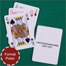 Skatkarten personalisierte Rückseite, Bridge, Poker