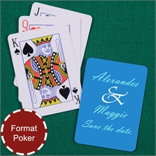 Personalisierte Hochzeitsspielkarten, Hochformat