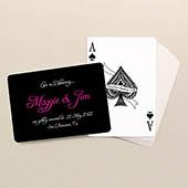 Personalisierte Hochzeitsspielkarten, Querformat