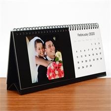 Personaliserter Tischkalender 127 x 279 mm Schwarz