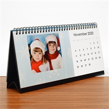 Tischkalender  127 mm x 280 mm, Weiß