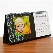 Tischkalender 216 mm x 280 mm, Schwarz und Weiß