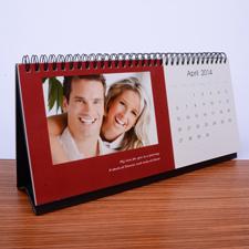 Tischkalender 127 mm x 280 mm, Rot