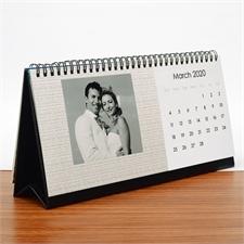 Tischkalender 127 mm x 280 mm, Dunkelblau