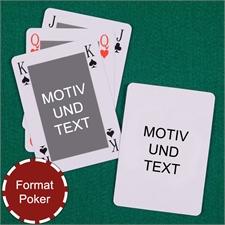 Klassisches Bridge in Pokergröße Rückseite Portrait beidseitig personalisieren