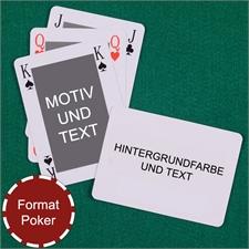 Klassisches Bridgespiel im Pokerformat Rückseite Querformat Beidseitig gestalten