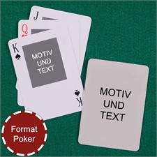 Portraitfoto oben Rückseite Hochformat Kartenspiel