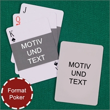 Foto Quer und Rückseite Hochformat Kartenspiel
