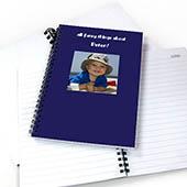 Notizbuch, Quadratfoto, Zweizeilig, Blau