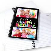 Notizbuch, Drei Fotos, Schwarz