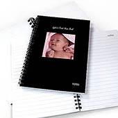 Notizbuch, Quadratfoto, Zweizeilig, Schwarz