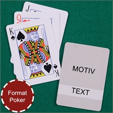 Klassiche Spielkarten Transparente Schrift