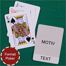 Coole Spielkarten Poker Eingebetteter Text