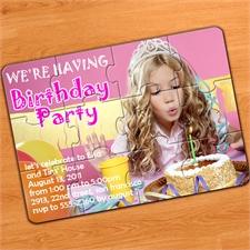 PartyPuzzle FotoEinladung mit Umschlag, 12,7 x 17,8 cm