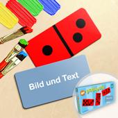 Personalisiertes Domino Spiel Foto im Querformat