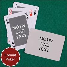 Klassische Spielkarten beidseitig personalisierbar Rückseite Querformat